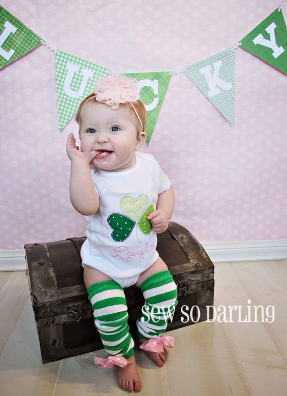 Baby Girl St Patricks Day Shirt  St Patricks Day by SewSoDarling