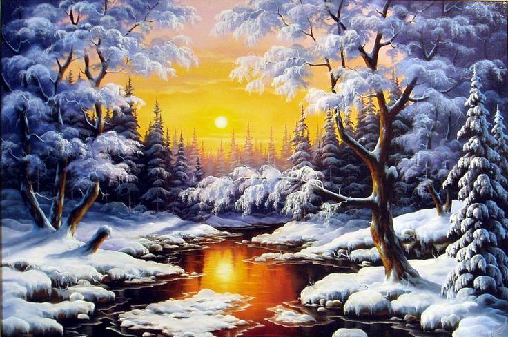 зимние картинки схемы