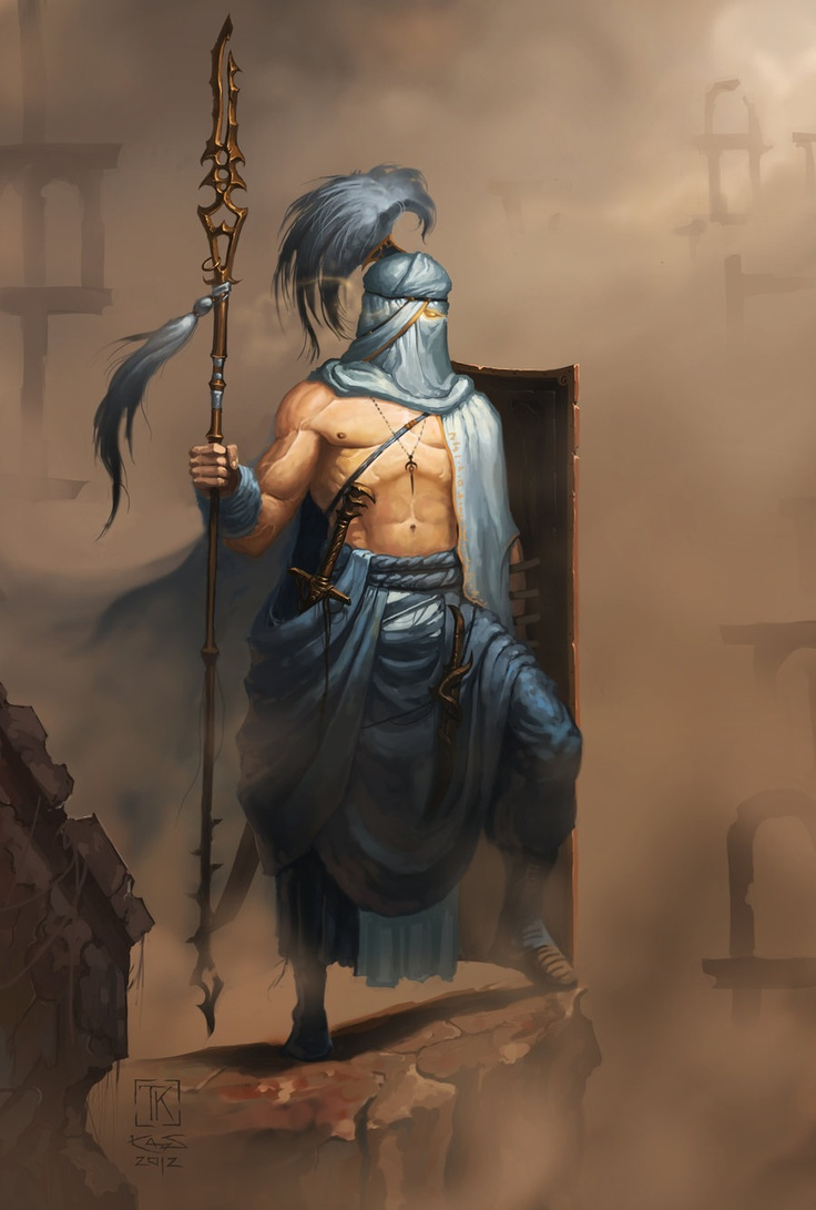 Silver gaurdian of the desert tribes. He seemed to almost be chiseled from the rocks he stood upon.