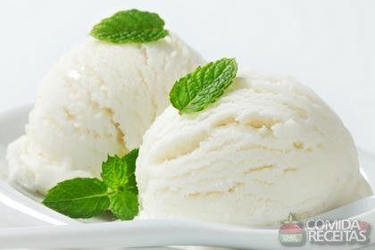 Receita de Sorvete de coco fácil - Comida e Receitas