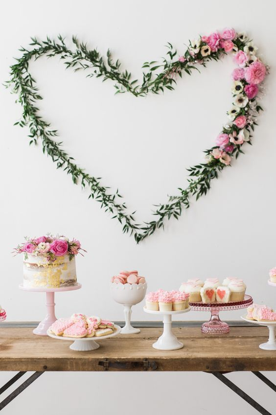 811 best bridal shower ideas images on pinterest wedding ideas pretty way to decorate on a large blank wall like the repetition of cake stands too find this pin and more on bridal shower ideas junglespirit Image collections