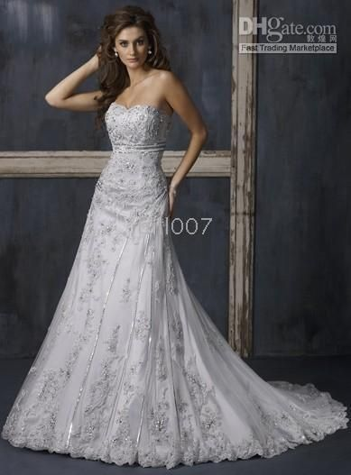 1000  ideas about Silver Wedding Dresses on Pinterest  Beaded ...