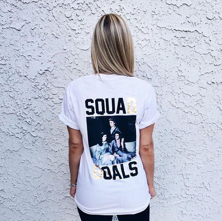 DG Gold Foil Squad Goals   Delta Gamma   Recruitment   Bid Day Shirts   Sorority Apparel