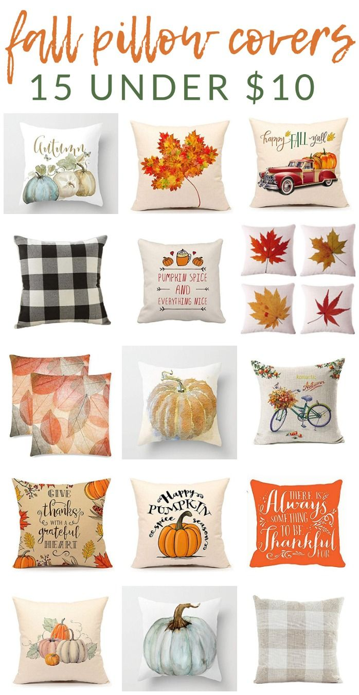 Favorite Fall Pillow Covers - Many are under $10