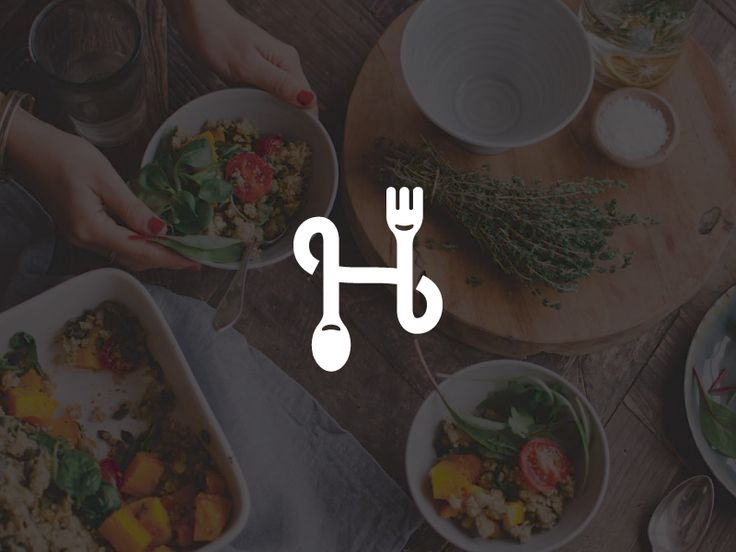 Logotype for mobile platform that unite cooks and people who love good and fresh food. This app like Airbnb among the delivery foods, and we created simply and easy for understanding logo :) www.lo...
