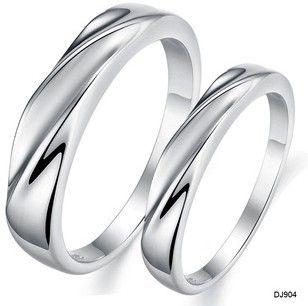 silver ripples rings