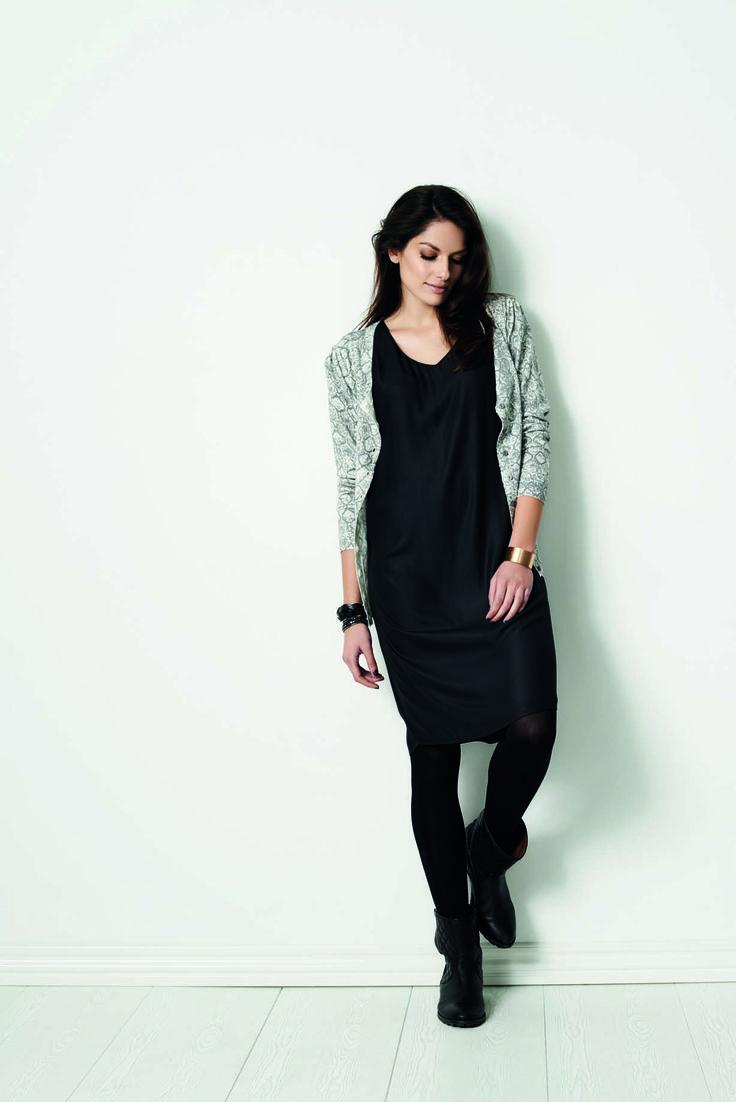 soyaconcept - dress - cardigan - knit - snakeprint