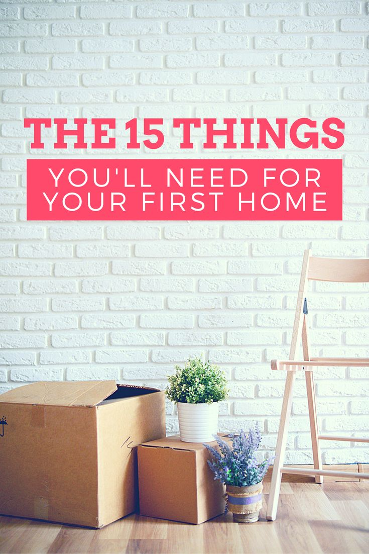 Moving into a new home? Buying a house? Cut down on the stress with our handy checklist of the 15 day-to-day essentials you'll need for your new abode!