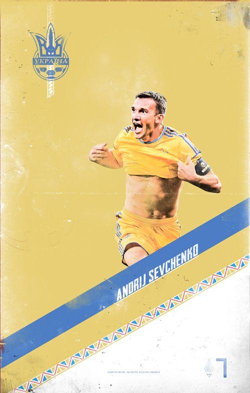 EURO 2012 Poster Football Player by Vecchio Barbieri Giuseppe, via Behance