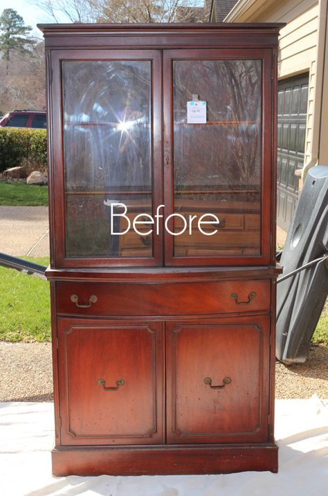 Thrift Store China Cabinet Makeover Diy Cabinet
