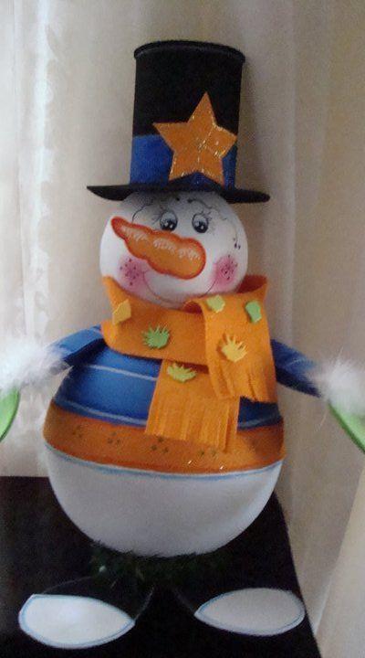 Caramelero muñeco de nieve