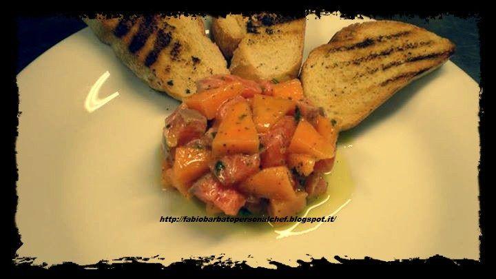 Tartare di Salmone e Melone