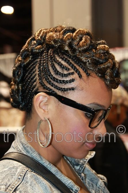 Braided Mohawk with Weave | Stylish Braided Mohawk Hairstyles