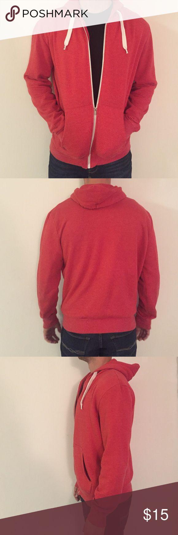 Men's red zip up sweater Gently worn H&M Sweaters Zip Up