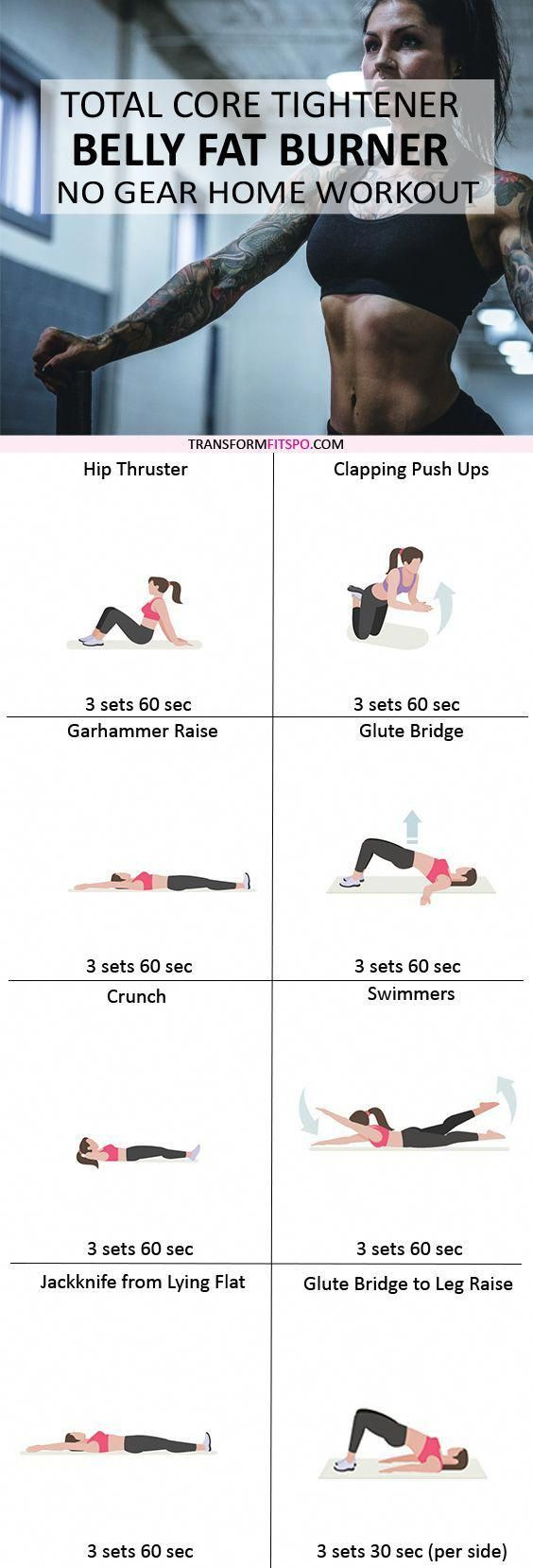 workout to tighten your whole core and burn your belly fat.