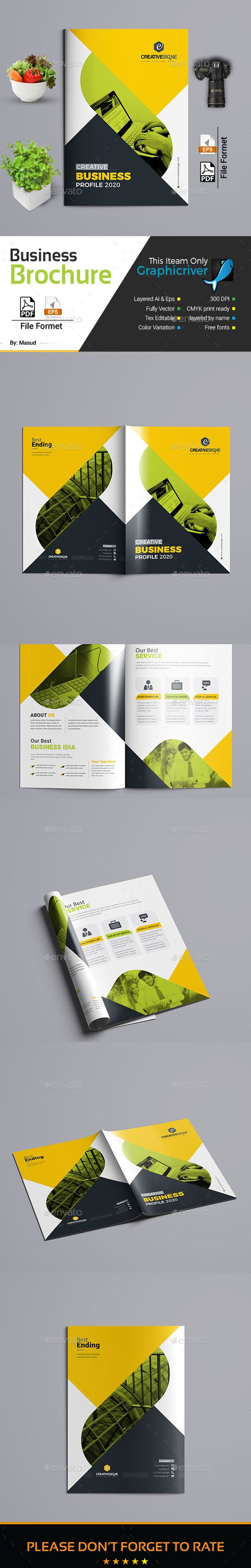 #Corporate #Bi Fold #Brochure - #Brochures #Print #Templates. Corporate Bi Fold Brochure 11.69×8.27 print dimension with Bleed + Trim Mark Illustrator fILE CMYK Print ready Text editable Both side design with Different colour