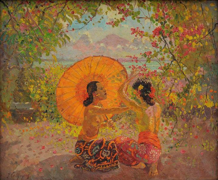 Adrien Jean Le Mayeur de Merprès - Gadis-gadis Bali