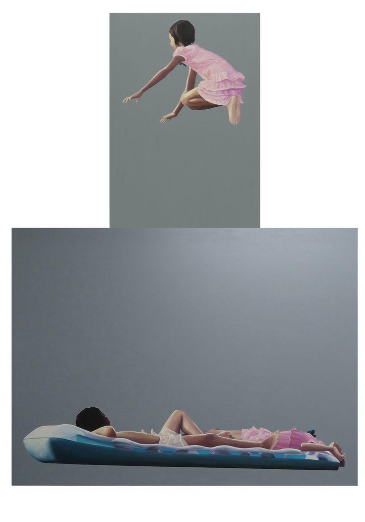 Peace, 2013, oil on canvas, 100x70cm and 120x160cm