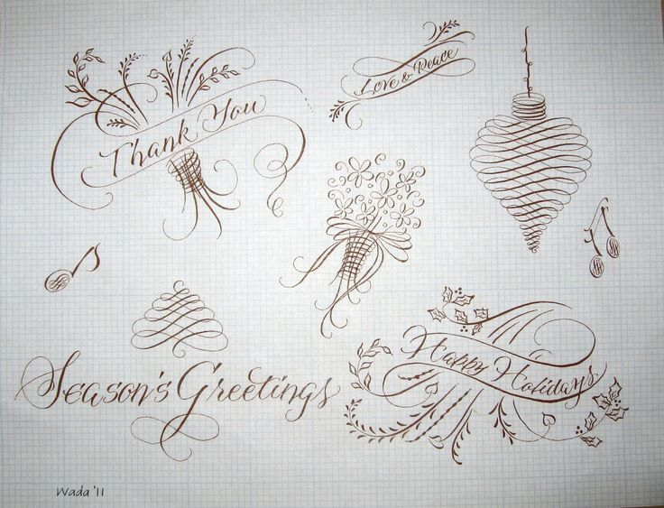 Adelina is modern calligraphy script that was painted in