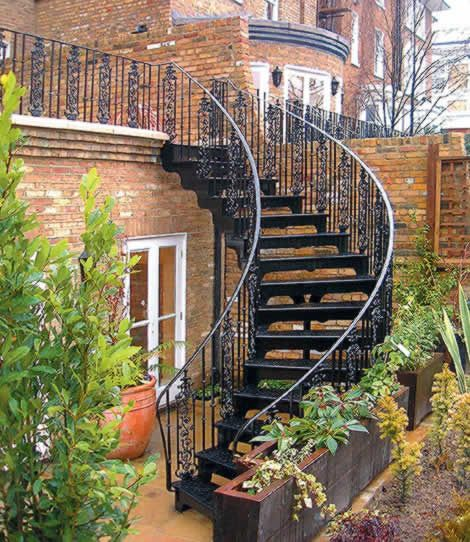 The Tregunter Project - Balustrading and stairs were made to fit to the clients' specific requirements in order to make the most of restricted outdoor space in this London garden.
