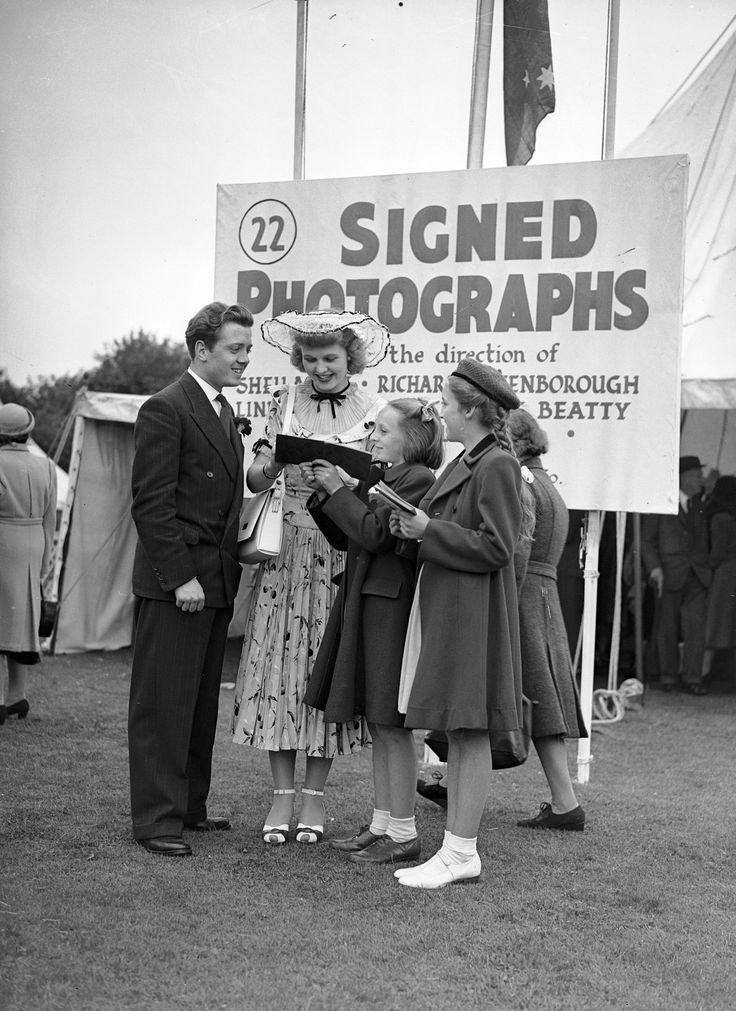 Richard Attenborough and Sheila Sim, 1948.