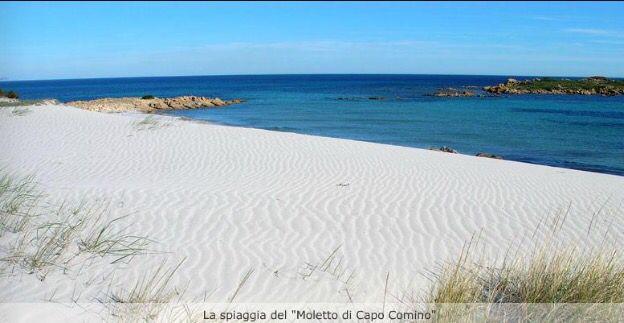 La sabbia bianchissima e finissima della spiaggia di capo comino (Siniscola)