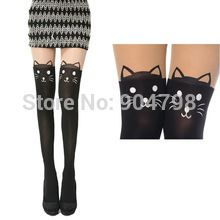 1pair Cat Bunny Bear Tattoo Tail Gipsy Mock Knee Hosiery Pantyhose Legging  Free / Drop Shipping