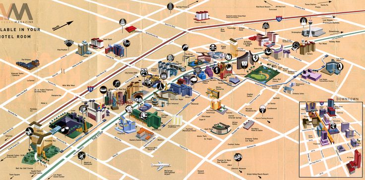 Las Vegas Tourist Map - Las Vegas Strip Nevada • mappery