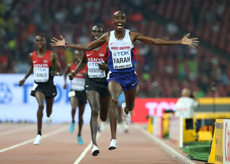 Malcolm Gladwell/Kipsang Number: Mo Farah wins the ten thousand metres at the World Championships, in Beijing.