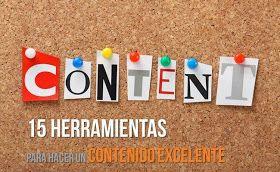 AYUDA PARA MAESTROS: 15 herramientas impresionantes para elaborar contenido de calidad para nuestro blog o web