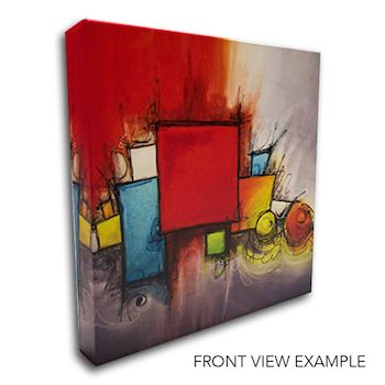Front view quality of our canvas print.