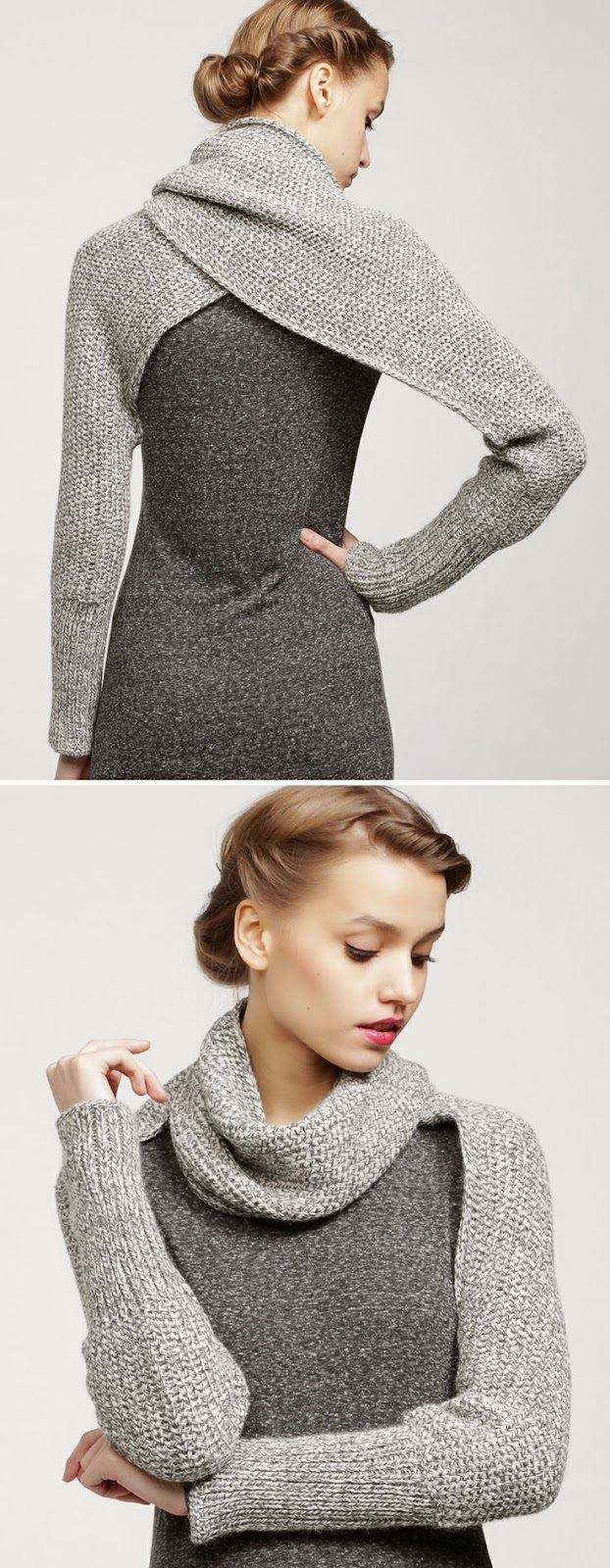 Sleeve Wrap Sweater....this makes me wish I could knit! - 'Be My Baby' Kit from woolandthegang.com WANT TO KNIT THIS SO BADLY