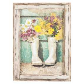Flowers in Boots Framed Wall Art