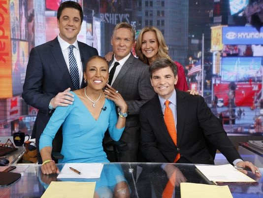 "Five months after a bone marrow transplant to treat a rare blood disorder, Robin Roberts resumed duties as co-anchor of ABC's Good Morning America Wednesday morning, saying ""'I have been waiting 174 days to say this: 'Good Morning America.'"" (via USA Today; photo via Heidi Gutman, ABC)  WELCOME BACK ROBIN!!!"