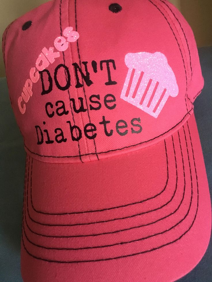 Vehicle decals · cupcakes dont cause diabetes type 1 type 2 baseball cap