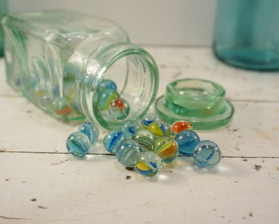 Vintage Toy Marbles // Farmhouse Decor // Cats by RedCatReclaim, $6.25