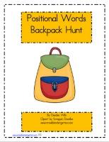 Free Kindergarten Math Worksheets Positional Words