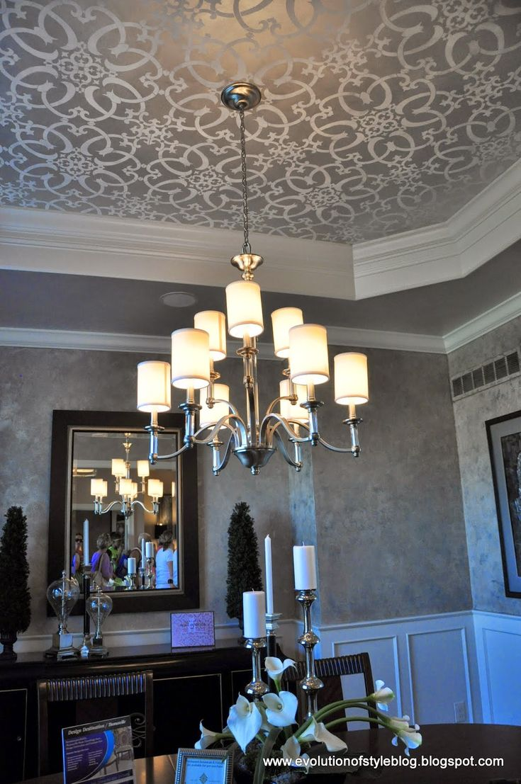 Stenciled Tray Ceiling