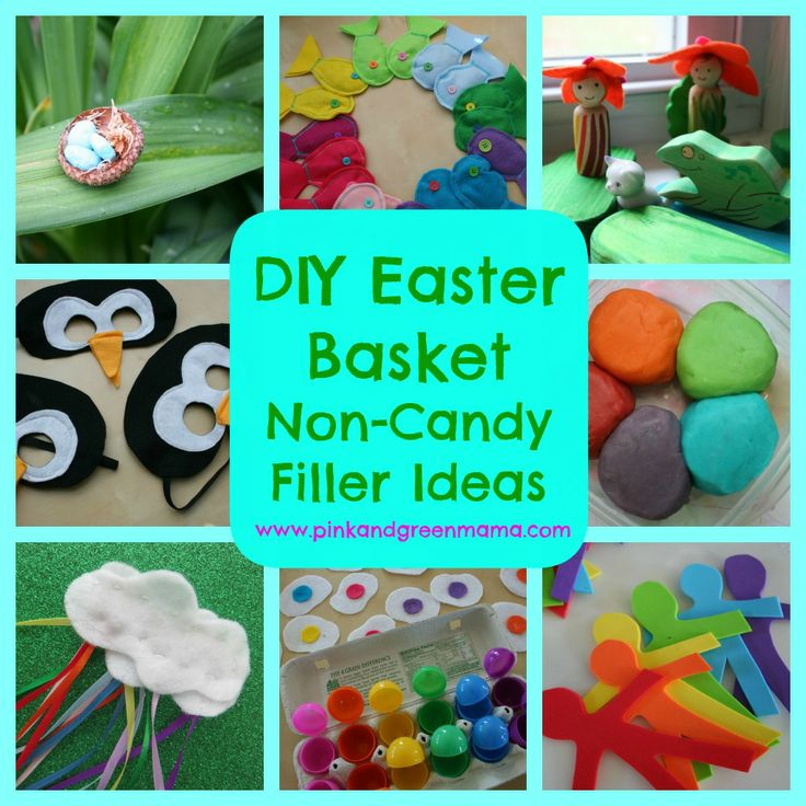 Easy DIY Easter Basket Non-Candy Filler Ideas To Make For Your Kids from Pink and Green Mama Blog