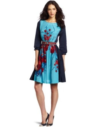 Tracy Reese Women's Contrast Frock Dress: Amazon.com: Clothing