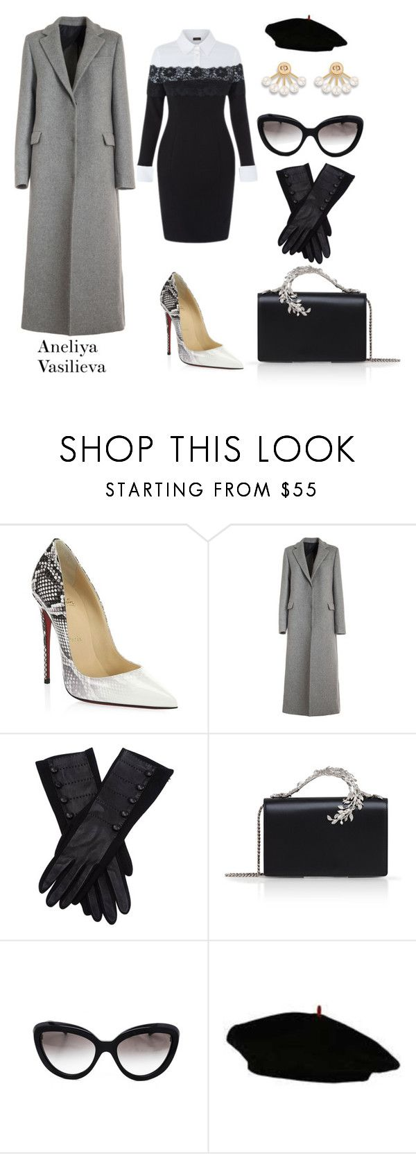 """""""Untitled #961"""" by aneliya-vasilieva-style ❤ liked on Polyvore featuring Christian Louboutin, MSGM, AGNELLE, Ralph & Russo and Prada"""