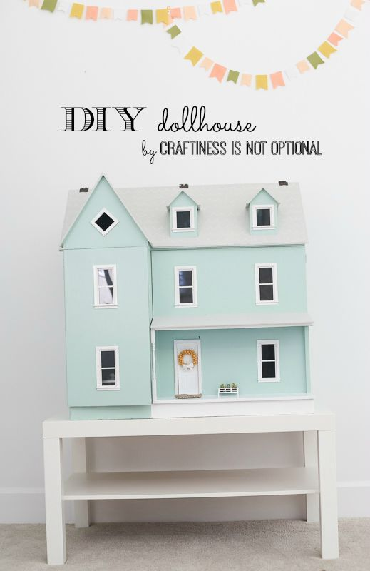 amazing DIY dollhouse by craftiness is not optional. Gorgeous dollhouse.