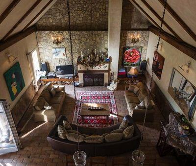 Living room view from the mezzanine bedroom - Luxury Villa Art at Lake Balaton