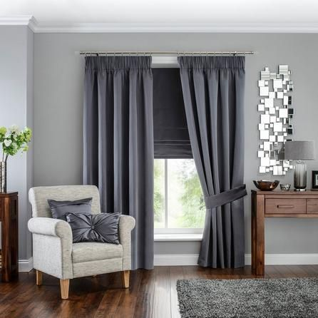 5A Fifth Avenue Venice Grey Pencil Pleat Blackout Curtains