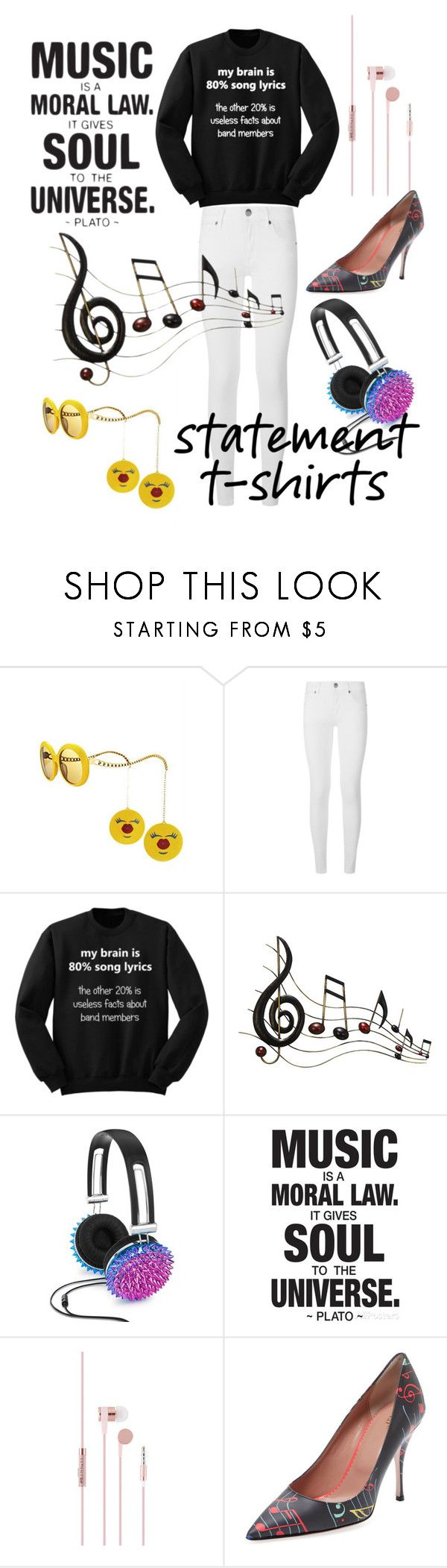 """MY BRAIN IS 80% SONG LYRICS!!!!"" by style-me-girl ❤ liked on Polyvore featuring Jeremy Scott, Burberry, Benzara, Celebrate Shop and RED Valentino"