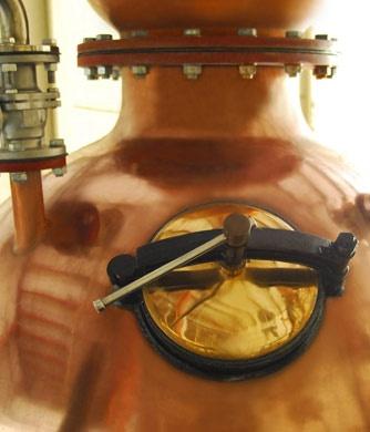 Bluecoat Gin -  distilled in a custom-built, hand-hammered copper pot still.