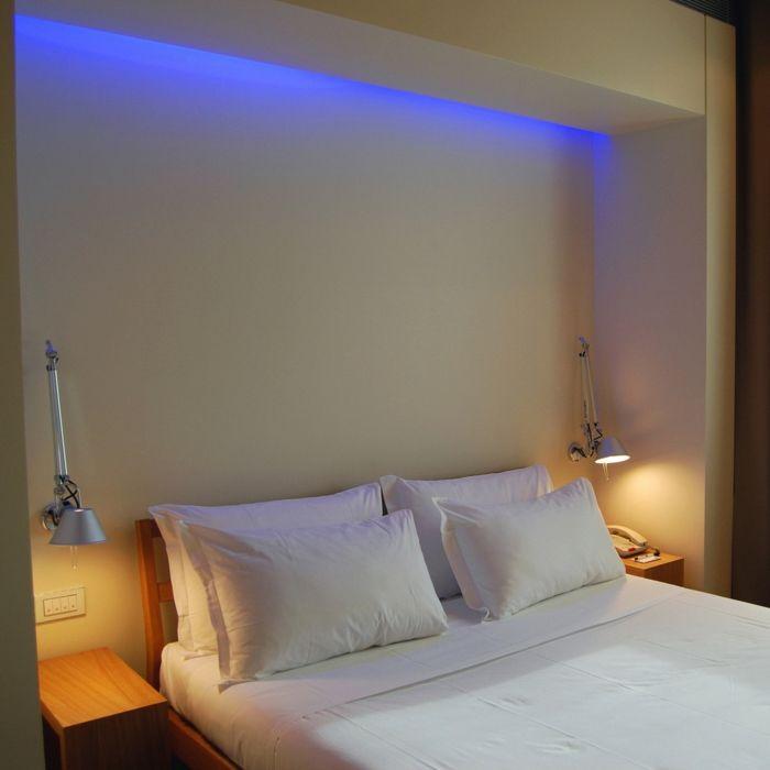Elegant indirekte beleuchtung led beleuchtung schlafzimmer coole wandleuchten