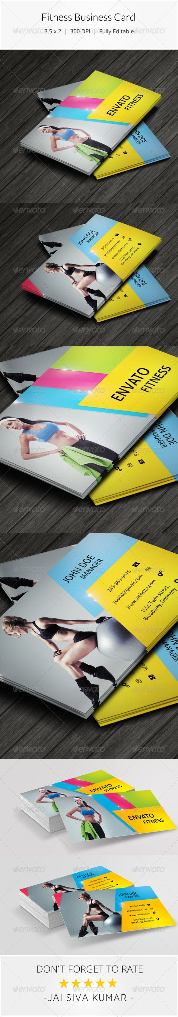 10 best Fitness business card images on Pinterest | Business cards ...