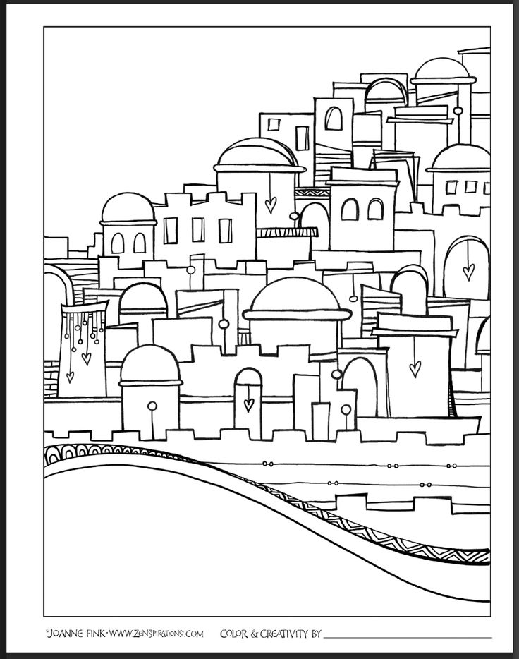city of jerusalem coloring pages - photo#17