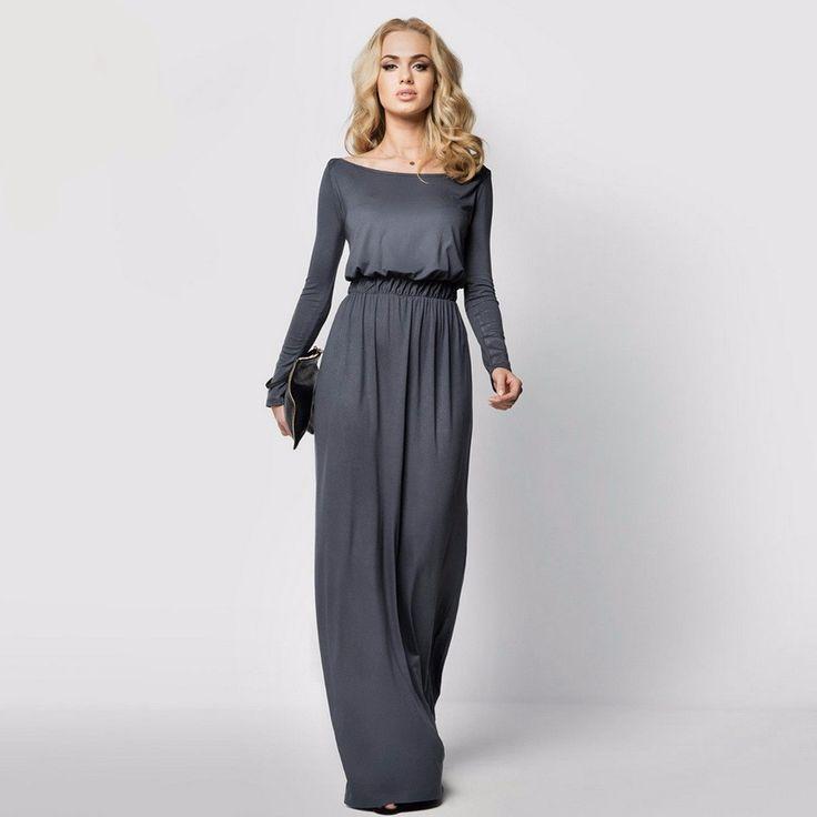 Khaki colored maxi dress